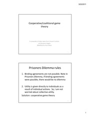 Exam on Coalitional Game Theory