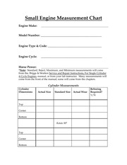 Engine Measurement Sheets