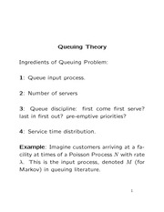 Stat 870 Queuing Theory Notes