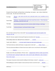 rome1 worksheet with answers rome worksheet part 1 during the roman. Black Bedroom Furniture Sets. Home Design Ideas