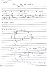 Astronomy 1 Class Test Paper Answers