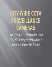 College Composition 2 CITY-WIDE CCTV SURVEILLANCE CAMERAS