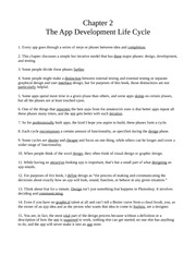 Chapter Two - The App Development Life Cycle