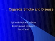 Cigarette Smoke and Disease-yr12