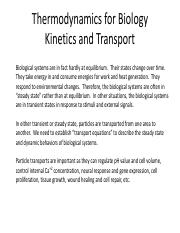 Thermodynamics for Biology_Kinetics and Transport_Part II (1).pdf