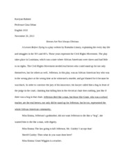 A Lesson Before Dying final Draft