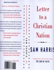Sam Harris Letter To A Christian Nation Pdf