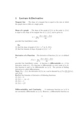 Lecture 6 - Derivatives