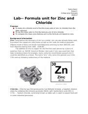 Lab- Formula unit for Zinc and chloride.docx