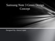 Samsung Note 3 Green Design Concept