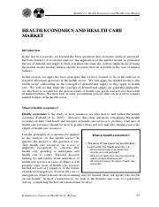 2.3 Health Economics and Health Care Market.pdf