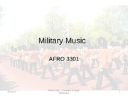 Lecture 3 note, Military Music