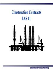 4) IAS 11 - Construction Contracts
