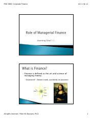 LG 1-1 and 2- Managerial Finance and Buisiness Organizations