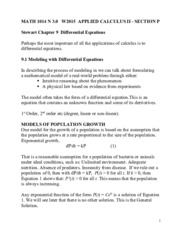 Chapter 9 Notes MATH 1014