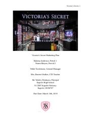 Victoria's Secret Marketing Plan