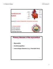 Lecture IV Diseases of Myocardium, Pericardium and Tumors [Compatibility Mode]