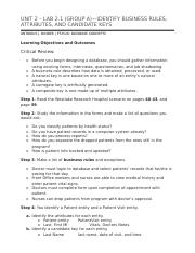 UNIT 2 – LAB 2.1 (GROUP A)—IDENTIFY BUSINESS RULES, ATTRIBUTES, AND CANDIDATE KEYS.docx