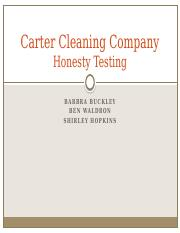 the new training program at carter cleaning company essay Strategic hrm and the hr scorecard essay sample  the carter cleaning company: the new training program  the carter cleaning company: the career planning.