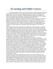 ELearning and Online Courses