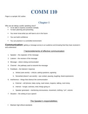 COMM 110 61 - notes 1