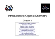 Organic Chemistry(Topic 1 Introduction)