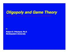 Oligopoly and Game Theory.pdf