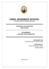 Assignment Financial Accounting 2