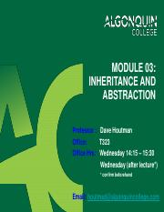 17W_Module 03 - Inheritance and Abstraction