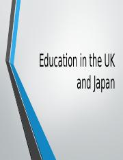 Education in the UK and Japan