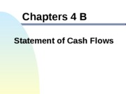 ACCT303 Chapter 4B - Statement of Cash Flows, teaching pp