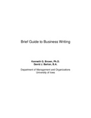 A Brief Guide to Business Writing