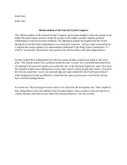 Memorandum of the General Syrian Congress.docx