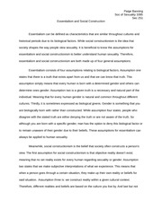 Sociology of Sexuality Essay - Essentialism and Social Construction