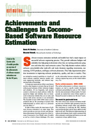 Achievements and challenges in COCOMO based software estimation
