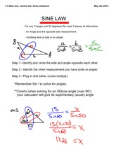 7.3 sine cosine laws and area