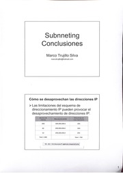 Subnneting Conclusiones