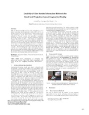 Usability of One Handed Interaction Methods for hand-held projection-based augmented reality