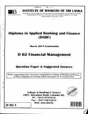 Financial Management - Mar 2015 pdf - l illS 1 jsnHfiE OFBAf