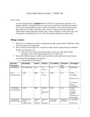 Study Guide for Exam - 2.docx
