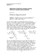 Ni and Cr mediated coupling reactions