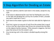 5 Step Algorithm for Dividing an Estate