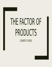 THE FACTOR OF PRODUCTSCKC.pptx
