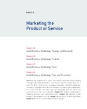 PART 5  Marketing the Product or Service