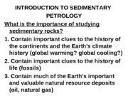 INTRODUCTION TO SEDIMENTARY PETROLOGY (1)