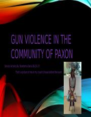 Gun Violence in the community of paxon