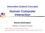 lecture 15 on Information systems Concepts