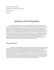 Building an Ethical Organization Final