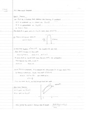 Chapter 4.2 Class Notes Mean Value Theorem