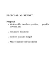 Proposal vs Report Overheads 10142010